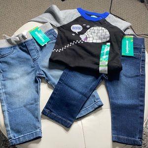 NWT Jeans & Shirt Bundle 6-9